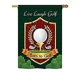 Breeze Decor H109042 Live, Laugh, Golf Interests Sports Vertical House Flag, 28'' x 40'', Multicolor