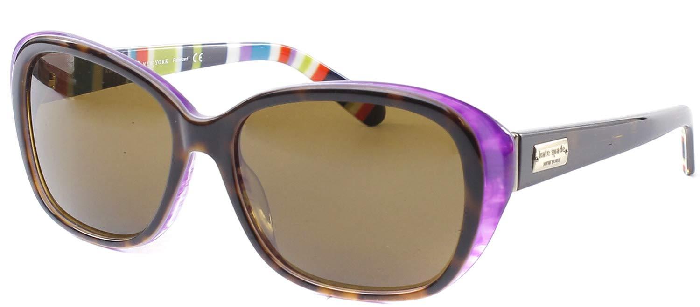Kate Spade Hilde/P/S Hilde/P/S Polarized Cat Eye Sunglasses,Tortoise/Purple,54 mm by Kate Spade New York