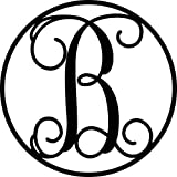 AJD Designs Circle B Monogram Letter, Black, 5 Piece (22 CR B)
