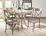 Hillsdale Charleston 5 Piece Round Wood Dining Set w/X Back Chairs Review