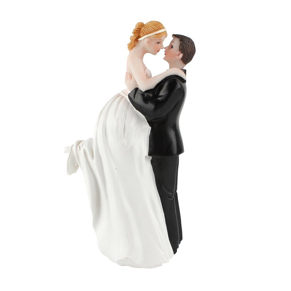EQLEF® Wedding Cake Toppers Happy Couple Resin Dolls Bride and Groom Figurine