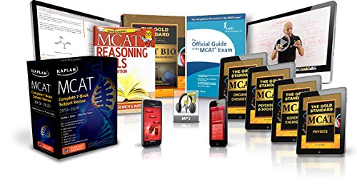 Gold Standard MCAT Prep Platinum Package Plus with 20 full-length practice tests and Kaplan MCAT Complete 7-Book Subject Review