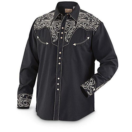 scully-mens-embroidered-scroll-western-shirt-black-medium