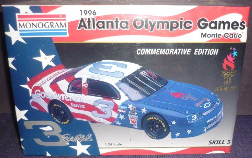 1996 Atlanta Olympic Games Monte Carlo Monogram Model (Earnhardt Car First Dale Race)