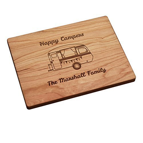 Personalized Wood Cutting Board made our list of Over 100 Ideas For This Holiday Season For Christmas Gifts For Campers And RV Owners!