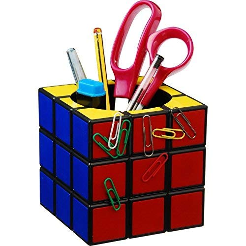 (Magic Rubik's Cube Magnetic Desk Pen Holder Cute Stationery Organizer Christmas Gift)