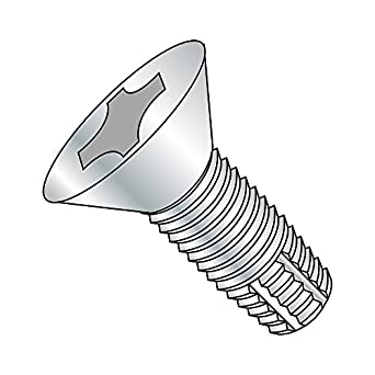 Pack of 100 Phillips Drive 3//8 Length Steel Thread Cutting Screw #2-56 Thread Size Zinc Plated Finish Pan Head Type 23