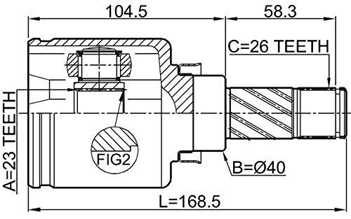 Inner Joint Left 23X40X26 Febest 0211-C11LH Oem 39720-EW628