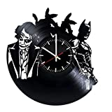 Cheap Welcome Everyday Arts Batman Joker Design Vinyl Record Wall Clock – Get unique bedroom or living room wall decor – Gift ideas for girls and women – DC Comics Unique Modern Art