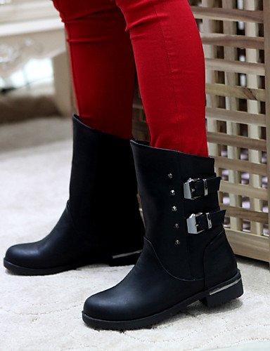 Semicuero Cn34 Oficina Eu42 Brown Tacón Vestido Brown Casual De Zapatos Cerrada Mujer Botas 5 Trabajo us5 us10 Redonda Punta 5 Eu35 Cn43 Uk8 Uk3 Bajo Marrón negro Y Xzz 6qzfww