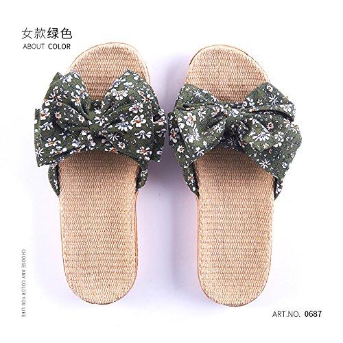 filtro biancheria verde 37 sig bow estate pavimento soggiorno antiscivolo spessa il coperta tie pantofole 38 pantofole un La carino casa cool fankou ra qBw5xRPnt
