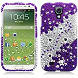 Aimo SAMSIVPCLDI661 Dazzling Diamond Bling Case for Samsung Galaxy S4 - Retail Packaging - Divide Purple
