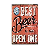 12x8 Inches Beer Theme Vintage Metal Sign Tin Poster Tavern Bar Pub Shop Retro