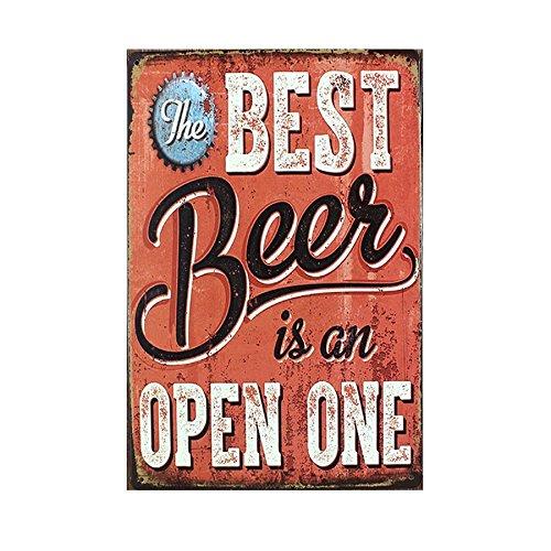 Cerveza Vino 20x30cm Bebe La Muestra Del Metal De La Vendimia Del Cartel Estano Barra De Bar Tienda De Cafe 20