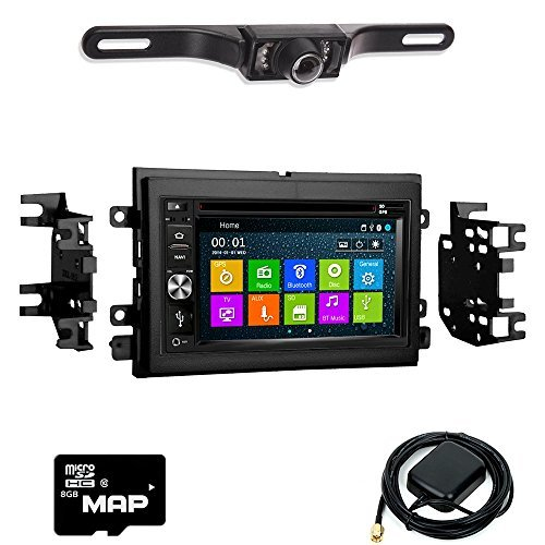 DVD GPS Navigation Multimedia Radio and Kit for Nissan Versa 2014-2016 with Backup Camera ()