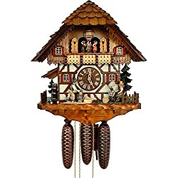 Chalet 8-Day Cuckoo Clock with Spinning Wheel & Woodchopper