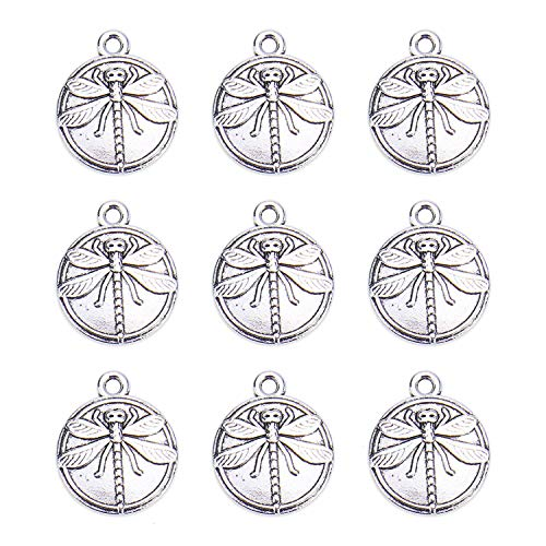 Monrocco 60 pcs Silver Dragonfly Charms 15mm]()