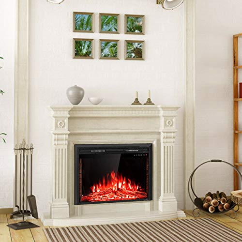 Cheap orchid prime 36 Inch Efficient Embedded Green Fireplace Insert Freestanding Stove Heater with Remote Control Realistic Flame for Warming up and Decorating Home and Office Black Friday & Cyber Monday 2019