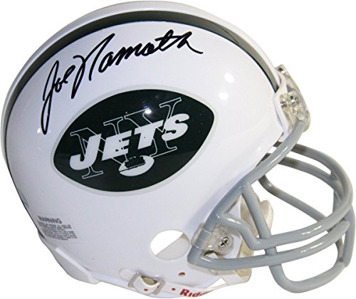 Joe Namath Signed New York Jets Throwback 65-77 Mini Helmet 9eba7b088