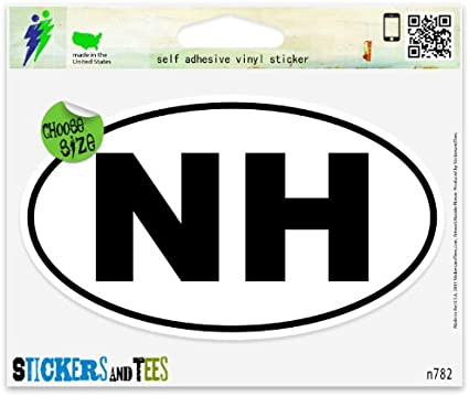 "Pennsylvania PA White State Oval car window bumper sticker decal 5/"" x 3/"""