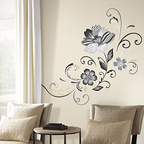RoomMates RMK2783GM Flower Scroll Decals