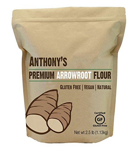 Arrowroot Flour (2.5 Pounds) by Anthony's, Certified Gluten-Free