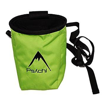 Psychi - Bolsa de magnesio con bolsillo y cinturón, color azul verde verde: Amazon.es: Deportes y aire libre