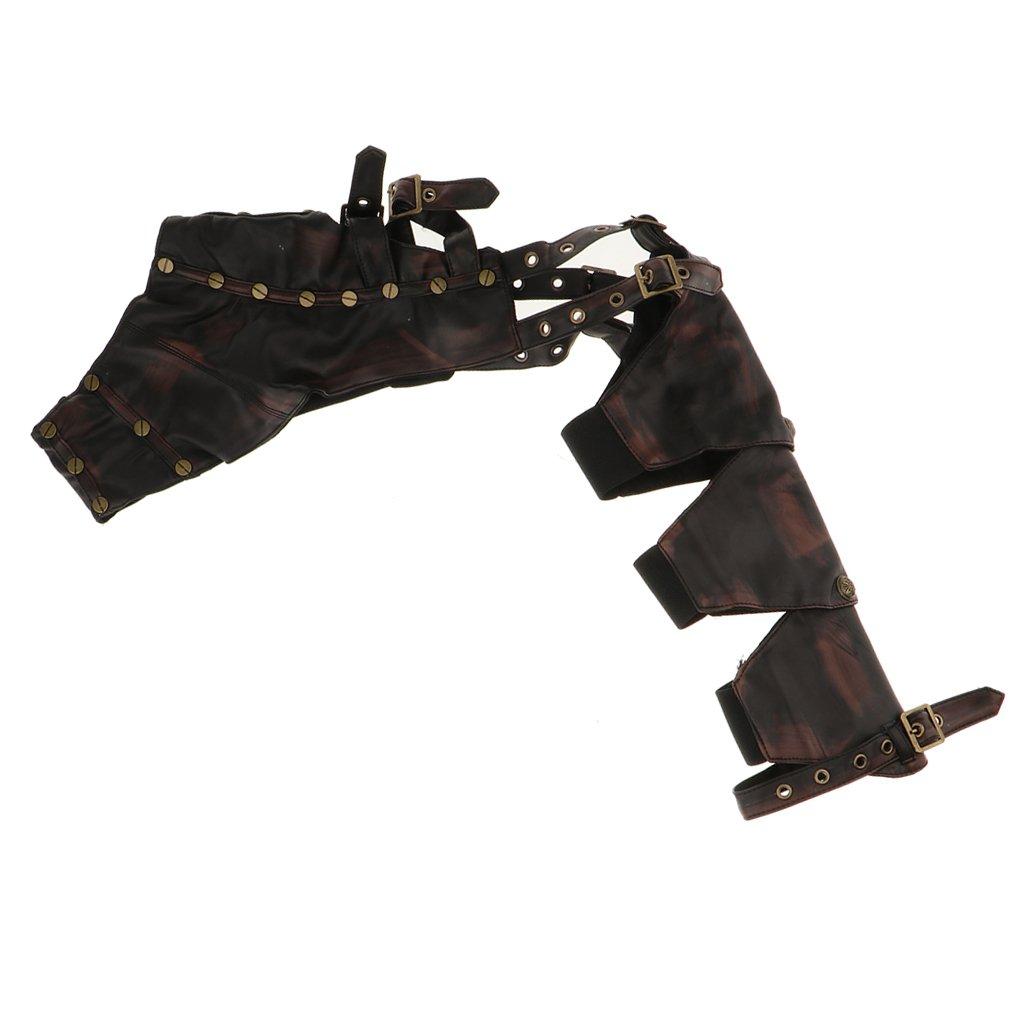 Homyl Steampunk Leather Cape Wraps Arm Bracelet Top Jacket For Festival Party Decor Unisex
