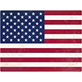 American Flag Wall Decal 12 x 16 Distressed