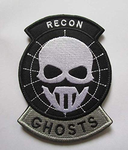 Recon Ghosts Military Patch Fabric Embroidered Badges Patch Tactical Stickers for Clothes with Hook & Loop -