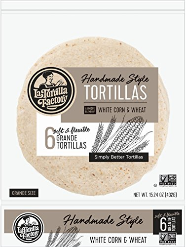 La Tortilla Factory Corn White Grande, 15.24 oz White Corn Tortilla