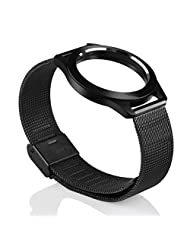 Misfit Shine Watch Strap TOOPOOT Replacement Stainless Steel Wristband For Misfit Shine (black)