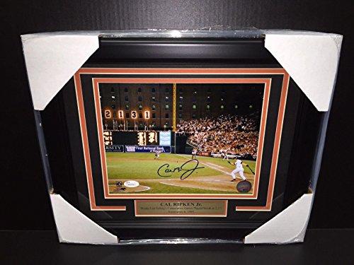 Ripken Jr Framed 8x10 Photo - Cal Ripken Jr. Signed Photo - 2131 8x10 Framed - JSA Certified - Autographed MLB Photos