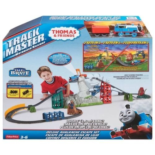 Thomas the Train DELUXE 2 in 1 Avalanche Escape Set TRACKMASTER (Fisher Price Thomas And Friends Trackmaster Avalanche)