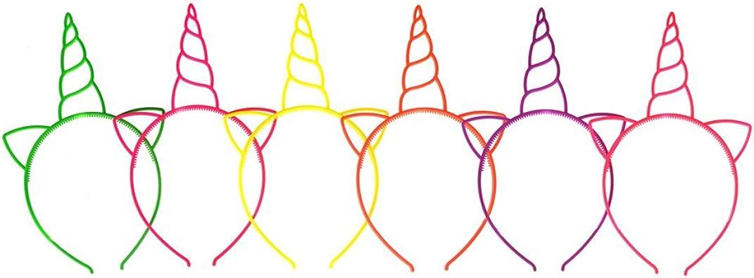 Lurrose 12 Diademas de Unicornio para Halloween, Juego de rol y ...
