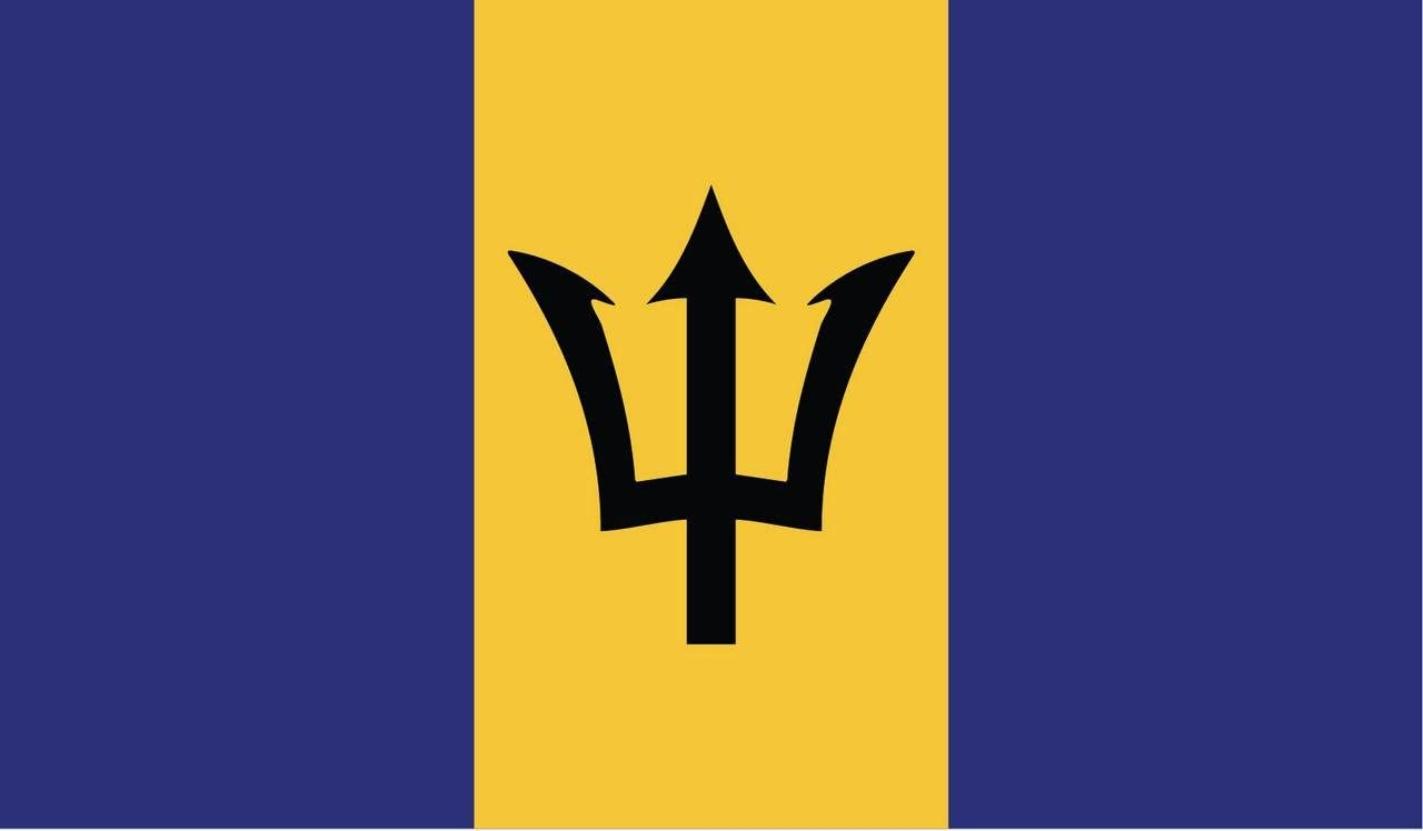 2-Pack Barbados Flag Decal Sticker   5-Inches By 3-Inches   Premium Quality Vinyl   PD383