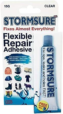 4 x Stormsure Flexible transparente adhesivo contacto piel goma ...