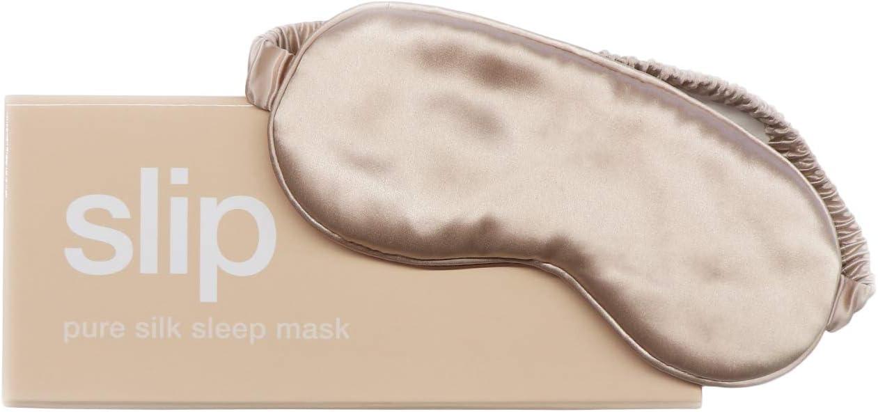 Slip Pure Silk Sleep Mask, Caramel - Pure Mulberry 22 Momme Silk Eye Mask, Soft & Comfortable Sleeping Mask - Made with 'Anti-Aging Anti-Sleep Crease Anti-Bed Head' Slipsilk