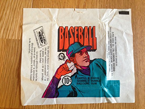 0-PEE-CHEE CO. BASEBALL BUBBLE GUM & TRADING CARD WRAPPER GOOD