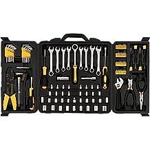 Opuko 108 Pieces Repair Tool Set Kit for Home General Household Mechanics Maintenance of Car Bike Motorcycle with Plastic Toolbox Storage Case
