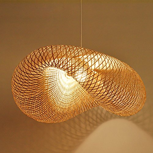 Waineg Nordic Designer Bamboo Weaving Lamp Cage Pendant Lamp Creative Rattan, The Bird'S Nest Chandelier ,E27 Bar Cafe Bamboo Weaving Lights 110v 20v Diameter 5018cm