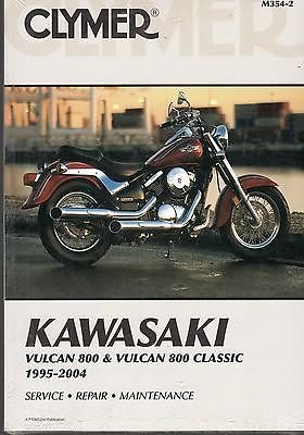 1995-2004 CLYMER KAWASAKI MOTORCYCLE VULCAN 800 SERVICE MANUAL NEW M354-2