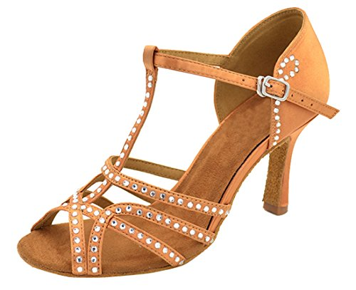 con mujer TDA Bronze tacón 8 3cm Zapatos nBBgxpwH