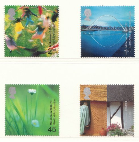 2000 MILLENNIUM PROJECTS (6TH SERIES) PEOPLE & PLACES STAMPS. SET OF 4, UNMOUNTED MINT. by Royal Mail ()