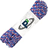 Paracord Planet Mil-Spec Commercial Grade 550lb Type III Nylon Paracord 100 feet Red White Blue Camo