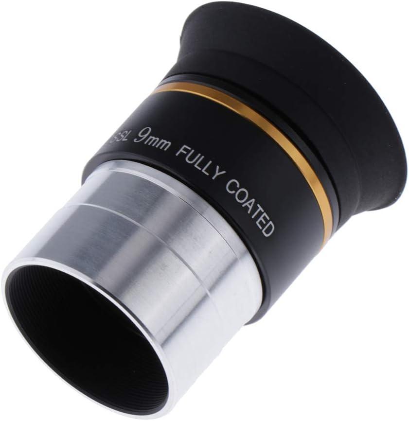 Almencla 1.25 9mm Plossl Telescope Eyepiece Aluminum Alloy + Optical Glass