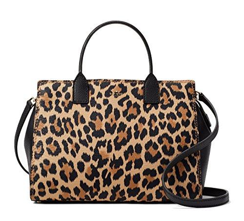 Kate Spade New York Dunne Lane Leopard Print Lake Pebble Leather Bag, Leopard Black