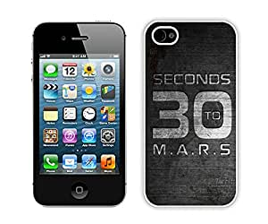 30 seconds to mars White Fantastic Style Design iPhone 4S Case