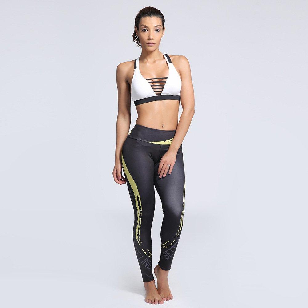 GYXYYF Slim Fit Leggings Outdoor Digitaldruck Schlanke Yoga Leggings