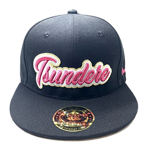 PANDAHAT Tsundere Cursive 3D Puff Embroidery Hat ()